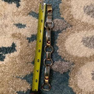 Silver over sized Michael Kors bracelet